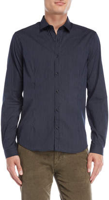 Gaudi' Gaudi Jeans Navy Stripe Sport Shirt