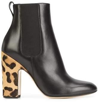 Francesco Russo leopard heel boots