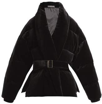 Alexandre Vauthier Padded Velvet Cotton Jacket - Womens - Black