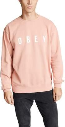 Obey Pigment Fleece Crewneck Sweatshirt