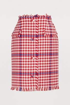MSGM Short tweed skirt