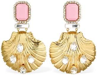 Alessandra Rich Pendant Clip-On Earrings