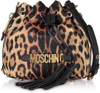 Moschino Animal Printed Nylon Bucket Bag