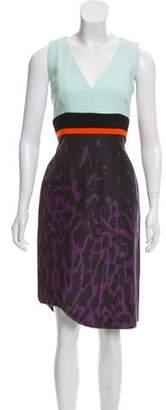 J. Mendel Printed Contrast Dress