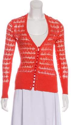 Magaschoni Silk Sequined Cardigan