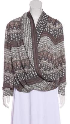 L'Agence Printed Long Sleeve Blouse