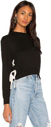 Monrow Supersoft Lace Up Sweatshirt