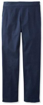 L.L. Bean L.L.Bean Side-Zip Ankle Pants, Print