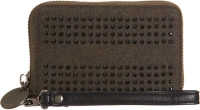 Deux Lux Crystal-Trimmed Small Wristlet Wallet