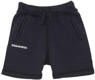 DSQUARED2 Logo Detail Cotton Sweat Shorts