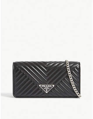 Prada Quilted leather wallet on chain