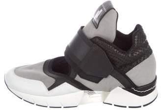 Cinzia Araia Embossed High-Top Sneakers