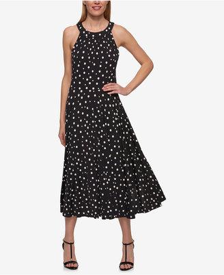 Tommy Hilfiger Polka-Dot Midi Dress $119 thestylecure.com