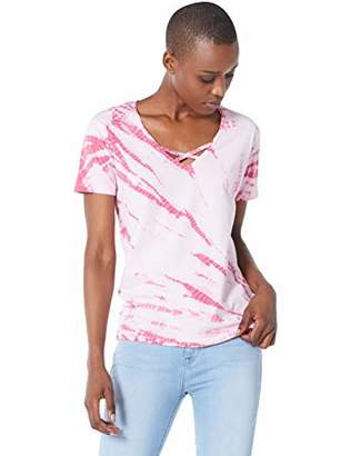 Ruby Diva Womens Relaxed Cross-Front Tee Tie dye -XL