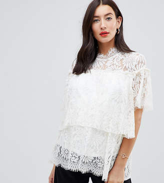 Mama Licious Mama.Licious Mamalicious nursing lace high neck blouse