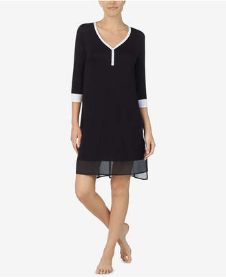 DKNY Colorblocked Chiffon-Hem Sleepshirt
