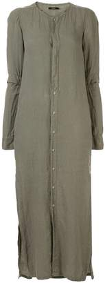 Bassike collarless shirt dress