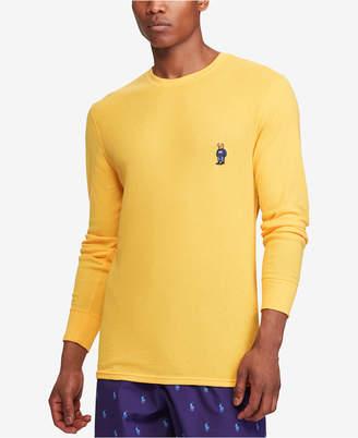 Polo Ralph Lauren Bear Men's Ultra Soft Waffle-Knit Thermal Shirt