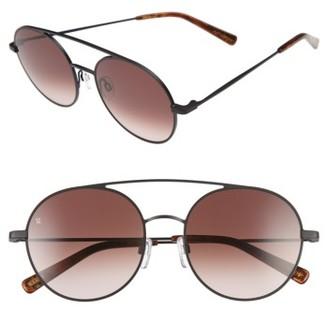 Women's Raen Scripps 55Mm Round Sunglasses - Black/ Burlwood $185 thestylecure.com