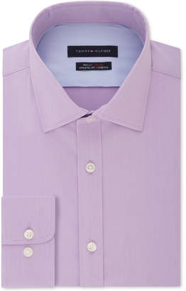 Tommy Hilfiger Men Fitted THFlex Performance Stretch Solid Dress Shirt