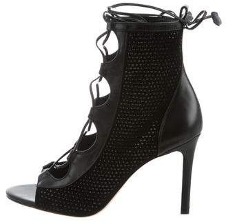Isa Tapia Nadia Embellished Lace-Up Sandals w/ Tags