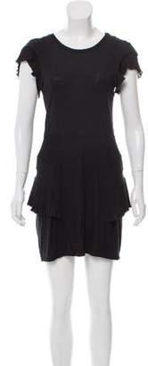 Toga Mini Wool-Blend Short Sleeve Dress
