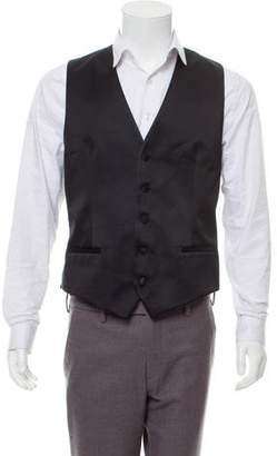 Dolce & Gabbana Silk-Wool V-Neck Vest