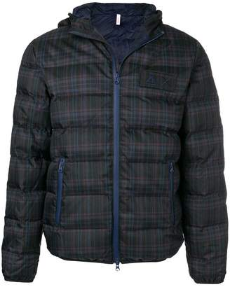 Sun 68 checked padded coat