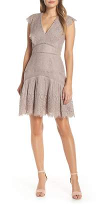 Adelyn Rae Shel Cap Sleeve Eyelash Lace Dress