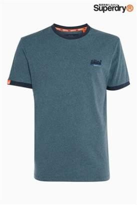 Next Mens Superdry Cali Ringer T-Shirt