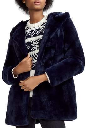 Maje Gatio Real Rabbit Fur Coat