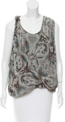 Robert Rodriguez Silk Abstract Top