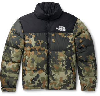 The North Face 1996 Nuptse Camouflage-print Quilted Ripstop Down Jacket - Army green