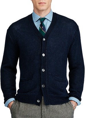 Polo Ralph Lauren Linen V-Neck Cardigan Sweater $265 thestylecure.com