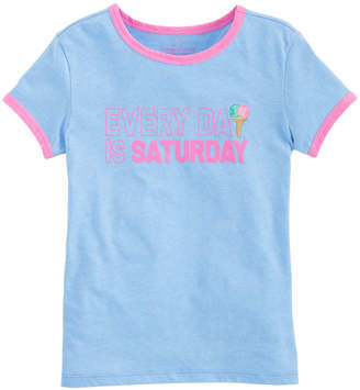 Vineyard Vines Girls Long-Sleeve Every Day Is Saturday Ringer Tee