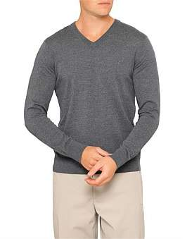 Theory Riland V Superfine Merino Wool V-Neck Knit