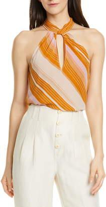 Joie Cedra B Stripe Silk Top
