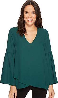 Karen Kane Women's Crossover Bell Sleeve Top