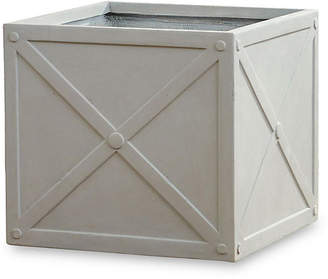 "Napa Home 22"" Cube Concrete Box Planter - Concrete"