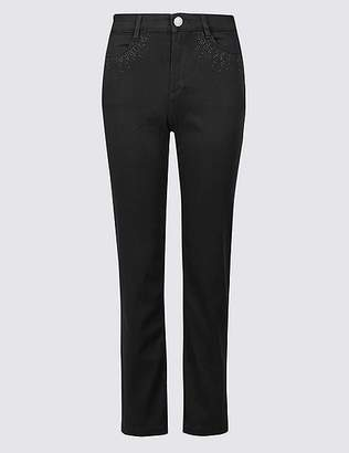 Marks and Spencer PETITE Roma Rise Straight Leg Jeans