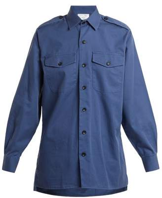 Myar - Gbs80 Patch Pocket Military Shirt - Womens - Blue 198b67a362a