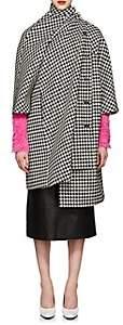 Balenciaga Women's Houndstooth-Weave Wool-Blend Opera Coat - Black