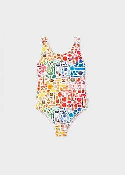 Paul Smith Girls' 8 + Years 'Photographic Collection' Print Swimsuit