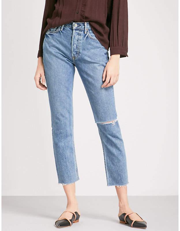 Karolina skinny cropped high-rise jeans
