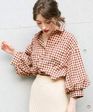 Heather (ヘザー) - レトロチェックボリュームシャツ