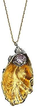 Alexander McQueen Women's Oyster Shell Crystal Necklace