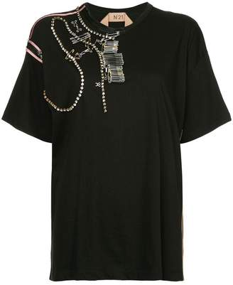 No.21 embellished T-shirt