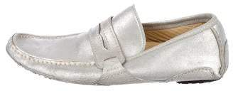 Dolce & Gabbana Metallic Driving Loafers