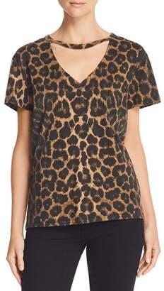 Pam & Gela Cutout Leopard Print Tee