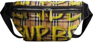 Burberry vintage check graffiti bumbag